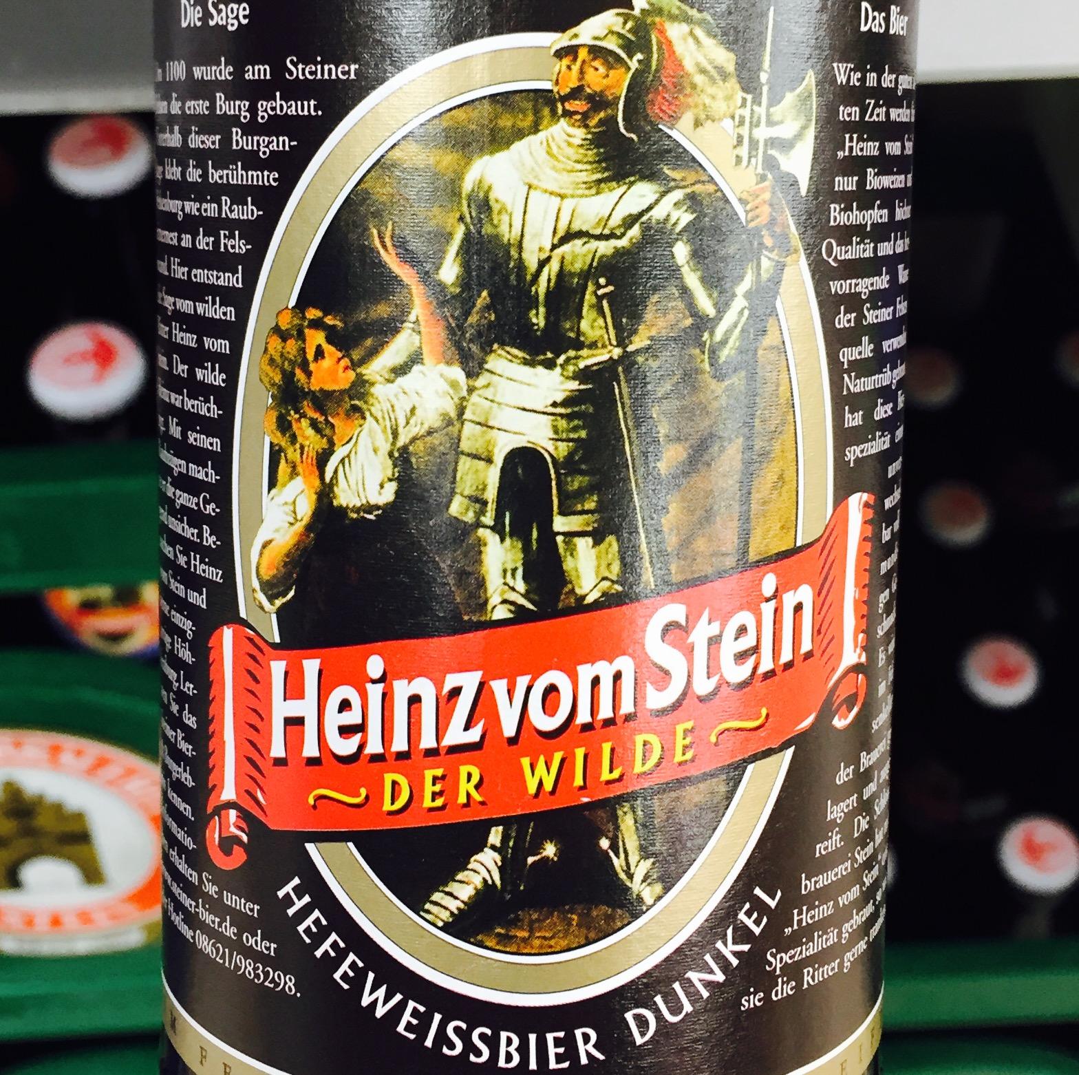 Heinz vom Stein - Hefeweizenbier Dunkel, Bio, Biologisch, Beer, Tasting, Rating, Bier, Verkostung, Bewertung, Alle Biere der Welt, hier bei BeerToGo