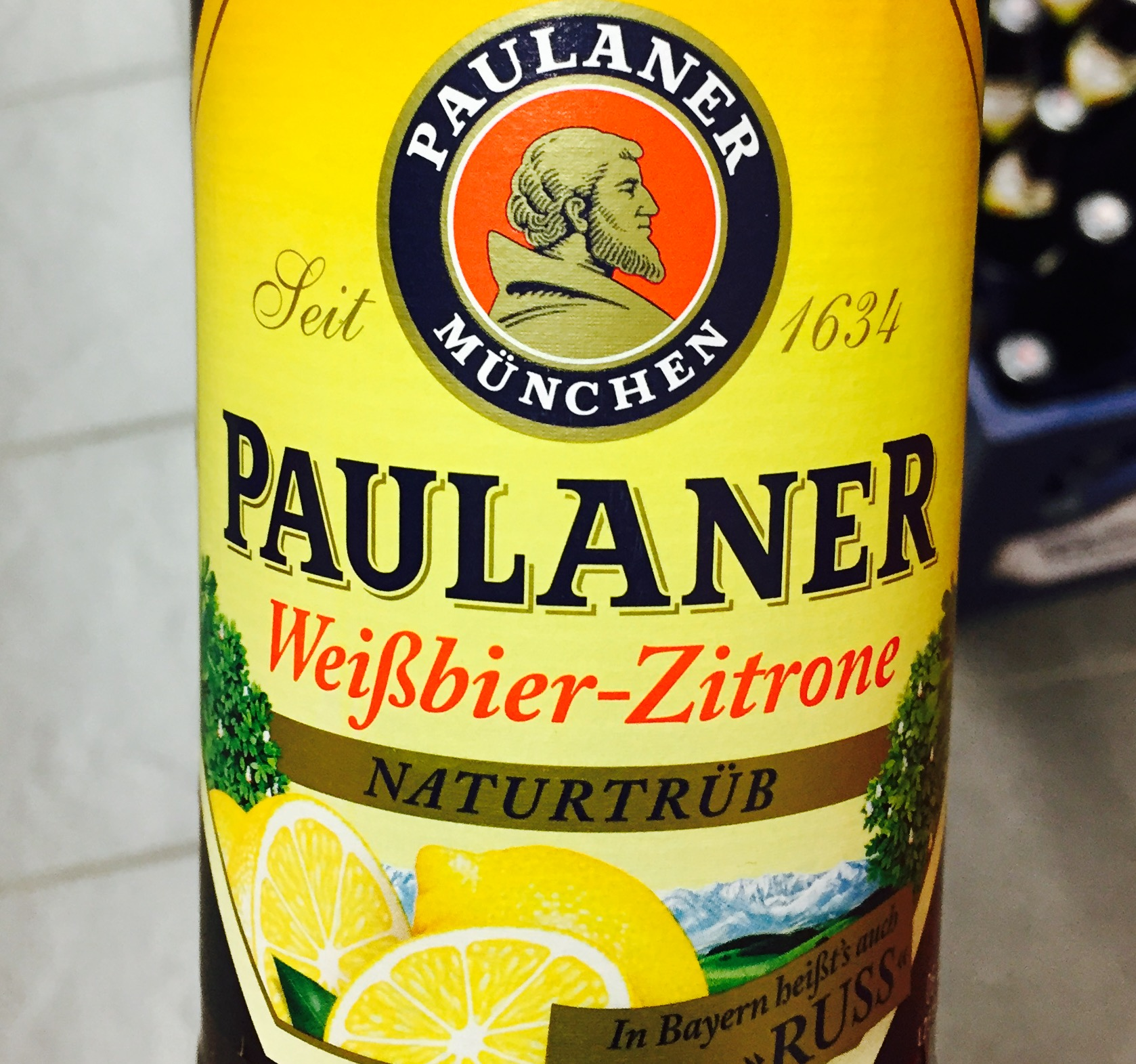 Paulaner - Weißbier Zitrone, Beer, Tasting, Rating, Bier, Verkostung, Radler, Bewertung, Alle Biere der Welt, hier bei BeerToGo