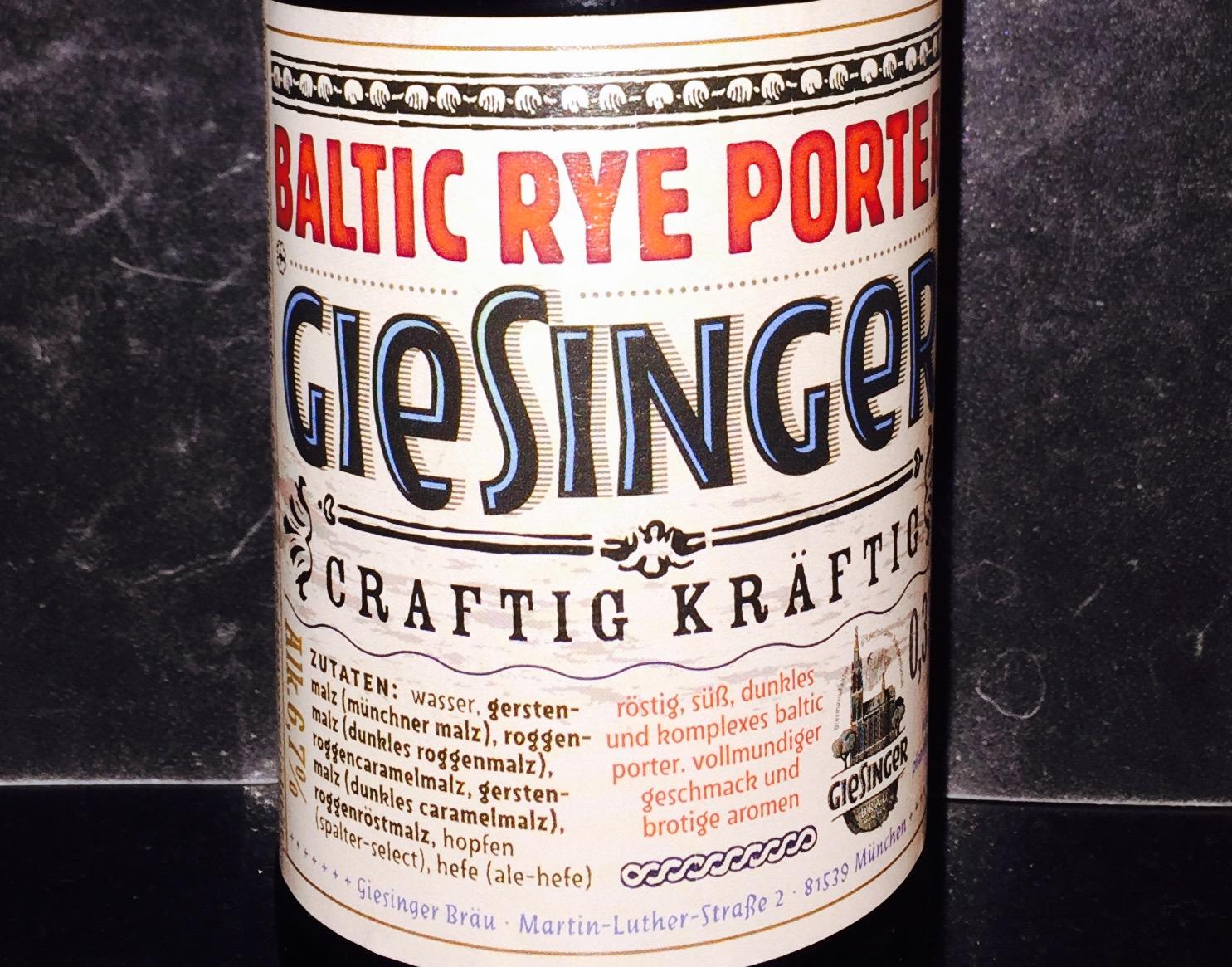 Giesinger - Baltic Rye Porter